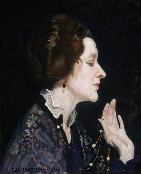 Painting - Portrait Of A Lady by George Washington Lambert