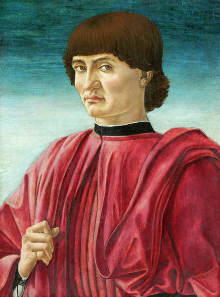 Painting -  Portrait Of A Man by Andrea del Castagno