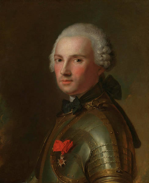 Protective Clothing Wall Art - Painting - Portrait Of A Man In Armour by Jean-Marc Nattier