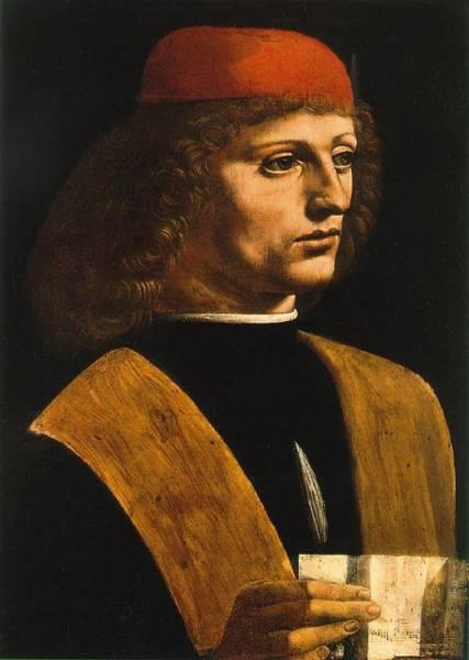 Painting - Portrait Of A Musician by Leonardo Da Vinci
