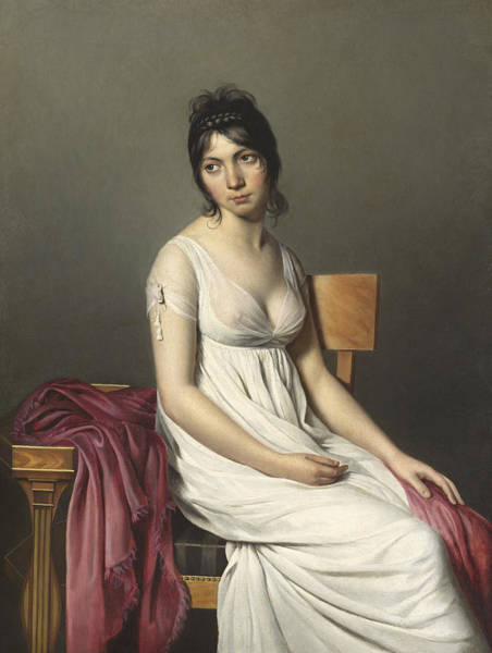 Portrait Of A Young Woman In White Art Print