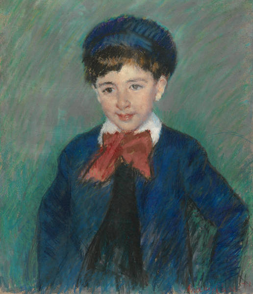 Pastel - Portrait Of Charles Dikran Kelekian, Age Eight by Mary Cassatt