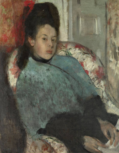 Painting - Portrait Of Elena Carafa by Edgar Degas