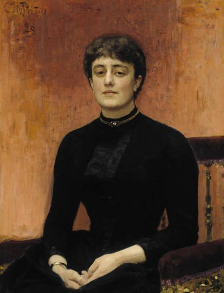 Painting - Portrait Of Jelizaveta Zvantseva by Ilya Repin