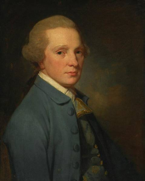 Romney Painting - Portrait Of John Augustus Richter by George Romney