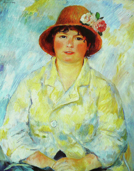 Painting - Portrait Of Madame Renoir by Pierre-Auguste Renoir