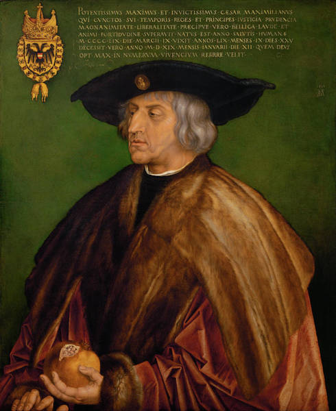 Albrecht Durer Wall Art - Painting - Portrait Of Maximilian I by Albrecht Durer