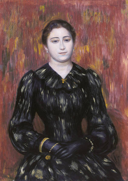 Painting - Portrait Of Mme. Paulin by Auguste Renoir