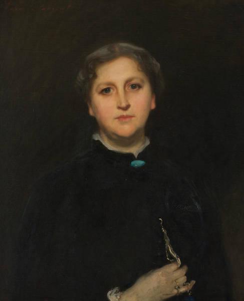 Portrait Of Mrs Raphael Pumpelly Art Print