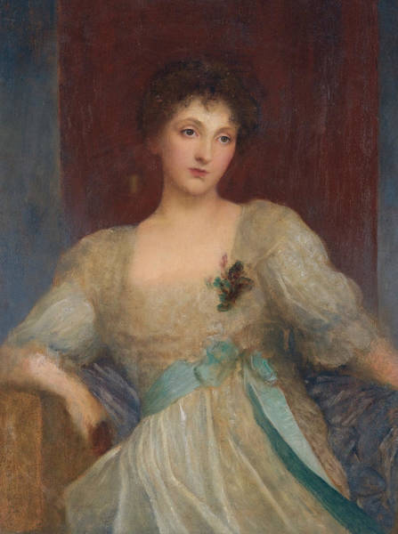 Painting - Portrait Of Norah Bourke by George Frederic Watts