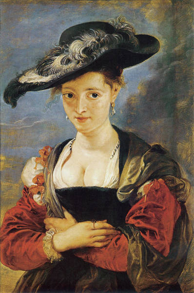 Photograph - Portrait Of Suzanne Fourment by Peter Paul Rubens