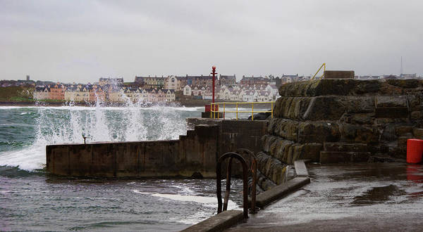 Photograph - Portrush Harbour Wall by Colin Clarke