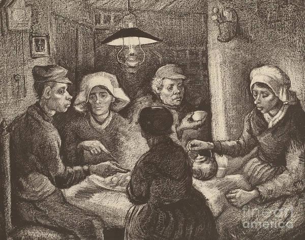 Pastel - Potato Eaters, 1885 by Vincent Van Gogh