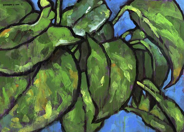 Potted Plant Painting - Pothos 1 by Douglas Simonson