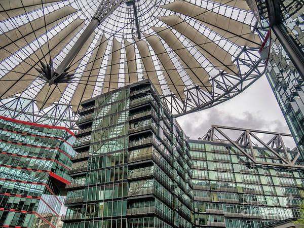 Sony Center Photograph - Potsdamer Platz Sony Center In Berlin by Frank Bach