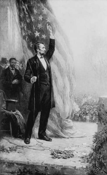Raising Wall Art - Painting - President Abraham Lincoln by Jean Leon Gerome Ferris