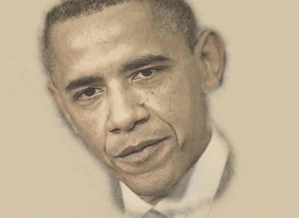 Lpga Digital Art - President Barack Obama by Don Kuing