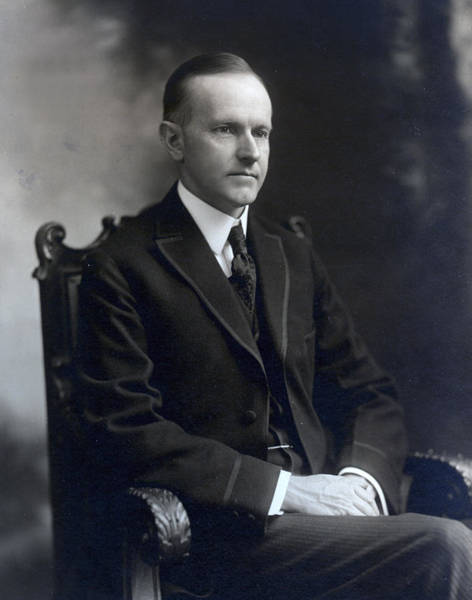 Wall Art - Photograph - President Calvin Coolidge by International  Images