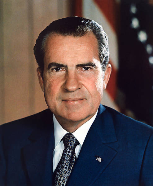 Republican Party Photograph - President Richard Nixon Portrait by War Is Hell Store