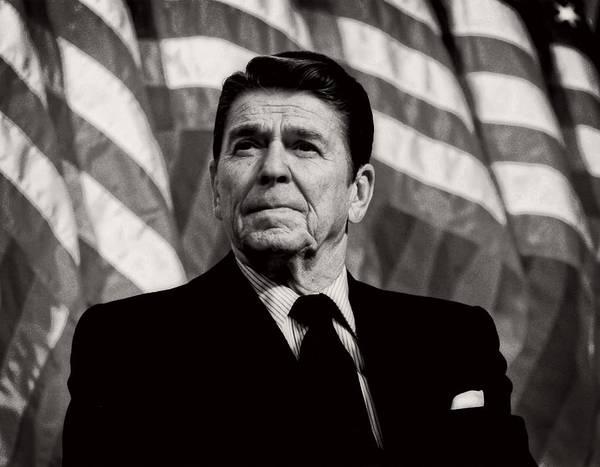 Ronald Reagan Photograph - President Ronald Reagan Speaking - 1982 by Mountain Dreams