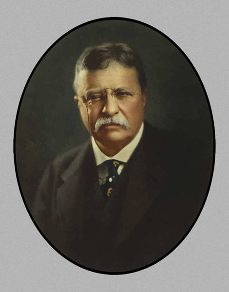 Wall Art - Painting - President Theodore Roosevelt  by War Is Hell Store