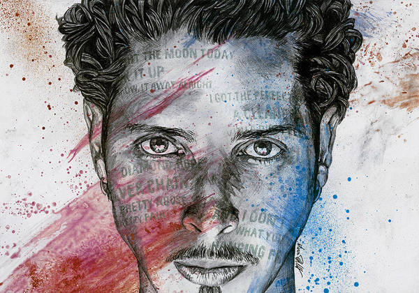 Chris Cornell Wall Art - Drawing - Pretty Noose - Tribute To  Chris Cornell by Marco Paludet