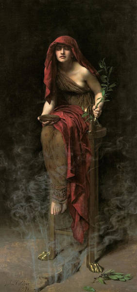 Oracle Wall Art - Painting - Priestess Of Delphi  by John Collier