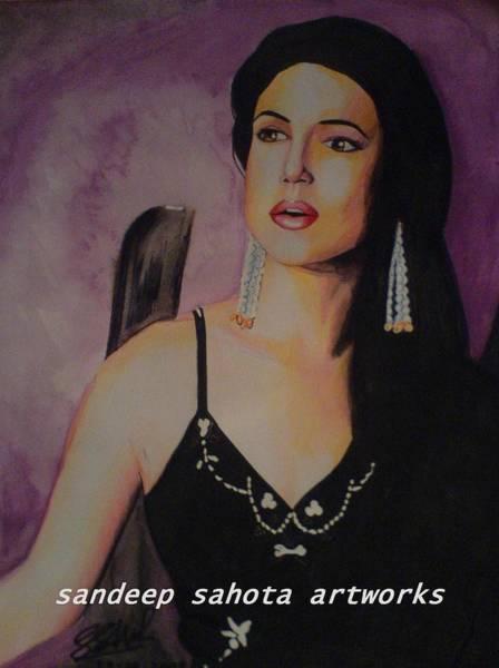 Orlando Bloom Painting - Priety Zinta by San Art Studio