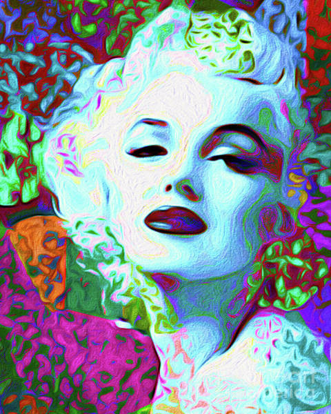 Wall Art - Mixed Media - Primatic Marilyn Monroe by Chris Andruskiewicz