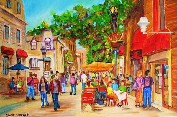 Painting - Prince Arthur Street Montreal by Carole Spandau