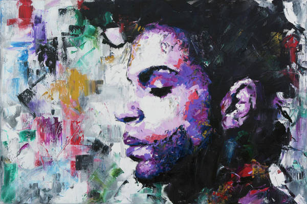 Guitarist Wall Art - Painting - Prince by Richard Day