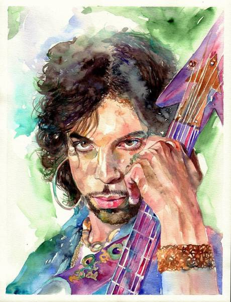 Men Painting - Prince Rogers Nelson Portrait by Suzann's Art