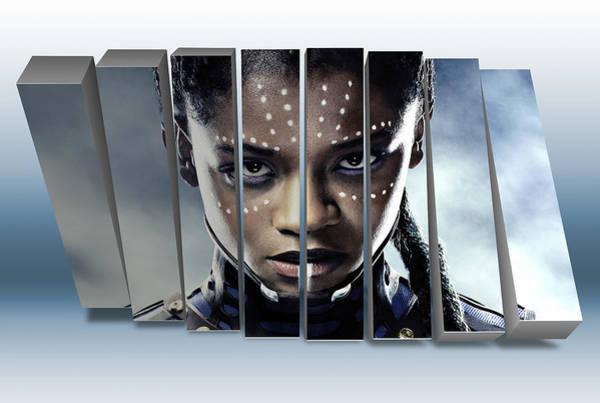 Black Panther Mixed Media - Princess Shuri Black Panther by Marvin Blaine