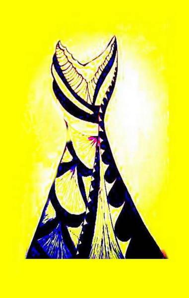 Digital Art - Print Dress by Mary Russell