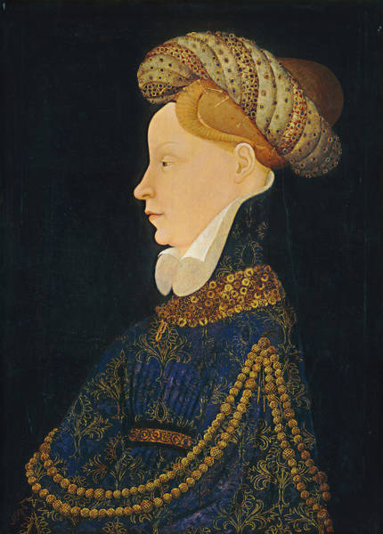 Painting - Profile Portrait Of A Lady by Franco-Flemish 15th Century