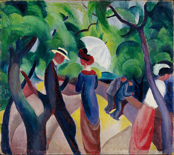 Painting - Promenade by August Macke