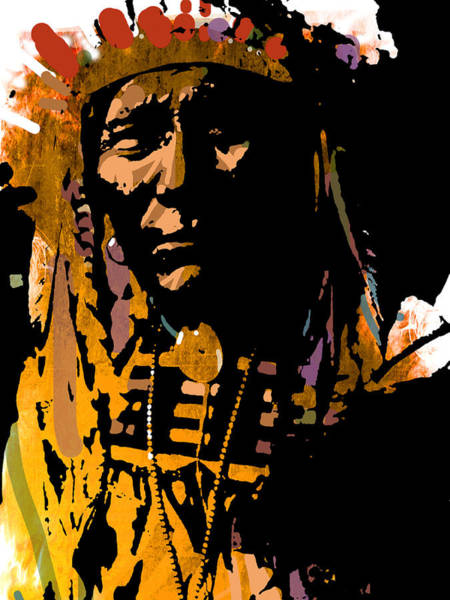 Wall Art - Painting - Proud Chief by Paul Sachtleben