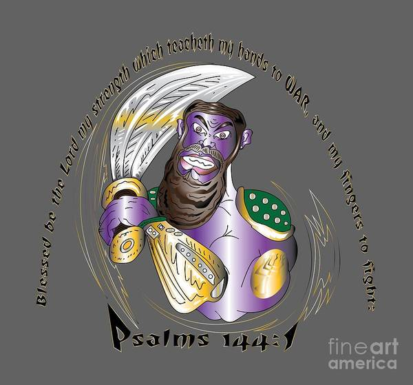 Digital Art - Psalms 144 Warrior by Robert Watson