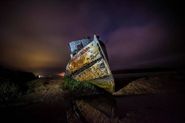 Photograph - Pt Reyes Shipwreck by Janet Kopper