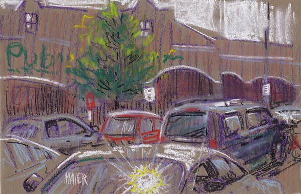 Auto Drawing - Publix Parking by Donald Maier