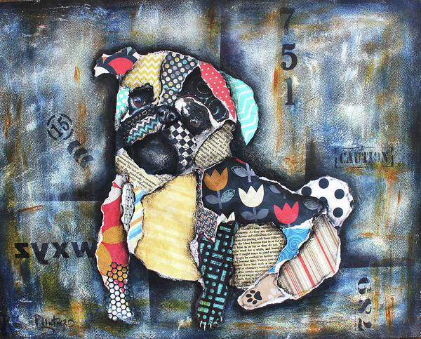 Mixed Media - Pug by Patricia Lintner