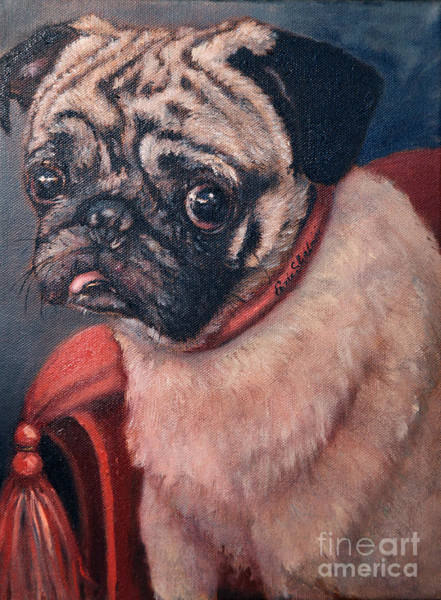 Wall Art - Painting - Pugsy by Portraits By NC