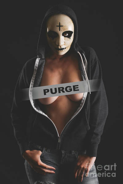 Hoodie Photograph - Purge Woman by Jt PhotoDesign