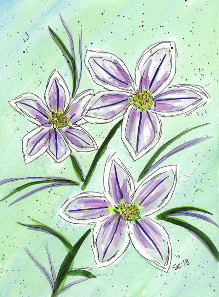 Painting - Purple And Green by Susan Campbell