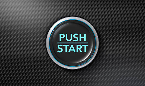 Dashboard Digital Art - Push To Start Carbon Fibre Button by Allan Swart