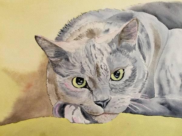 Painting - Puss Off by Sonja Jones