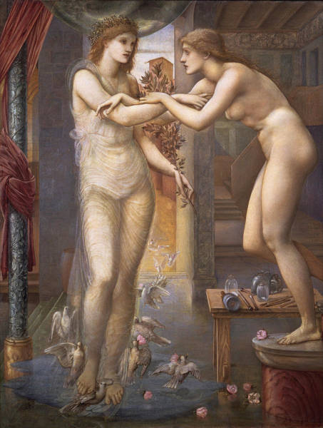 Perfect Body Painting - Pygmalion And The Image The Godhead Fires   by Edward Burne-Jones