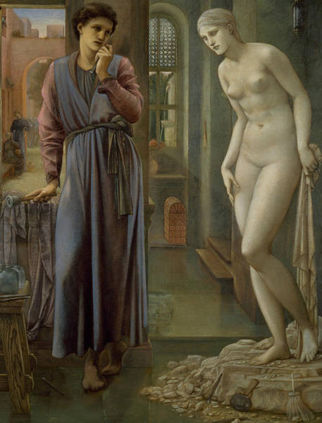 Painting - Pygmalion And The Image The Hand Refrains by Edward Burne-Jones
