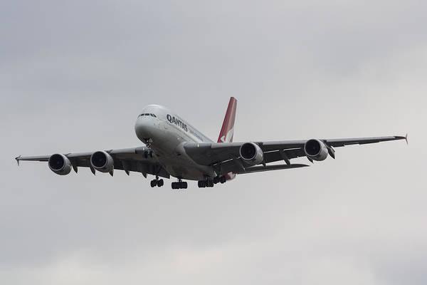 Wall Art - Photograph - Qantas Airbus A380 by David Pyatt