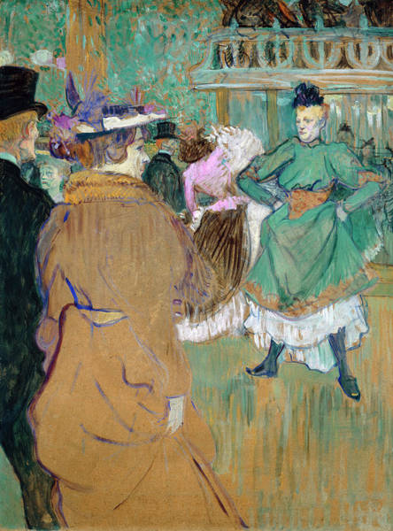 Painting - Quadrille At The Moulin Rouge by Henri de Toulouse-Lautrec